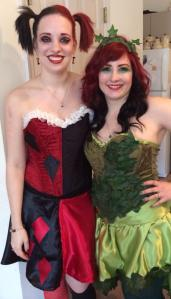My friend and me as Poison Ivy and Harley Quinn!