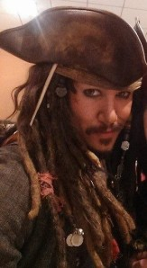 The amazing Jack Sparrow cosplay that won the contest!